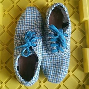 Teal Toms in Houndstooth